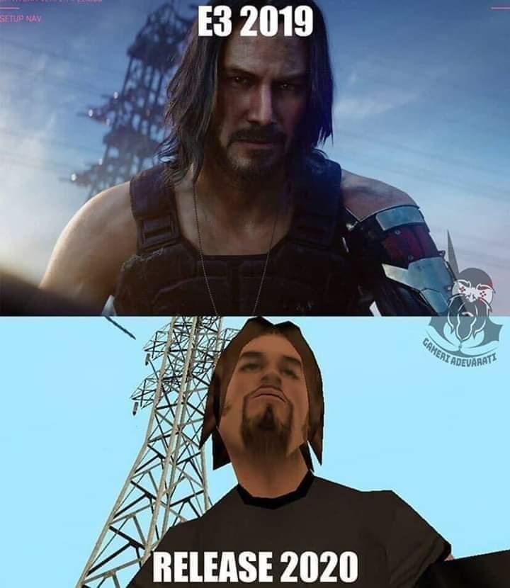 Cyberpunk 2077 crack meme