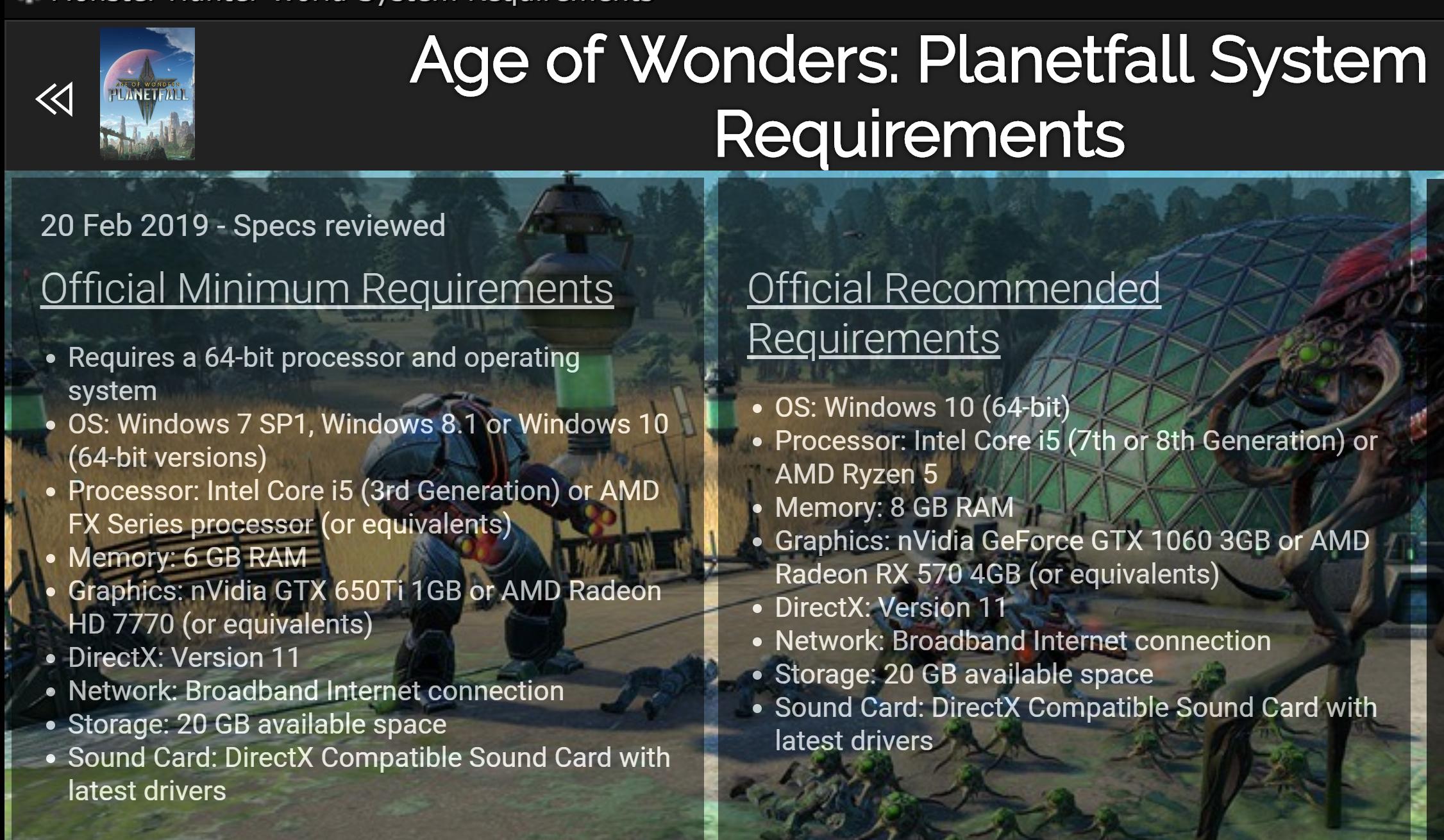 Age of Wonders: Planetfall Crack Status | CrackWatch